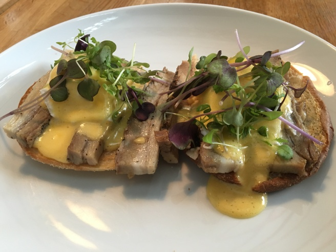 Pork Belly Eggs Benedict Toru Cafe Ponsonby