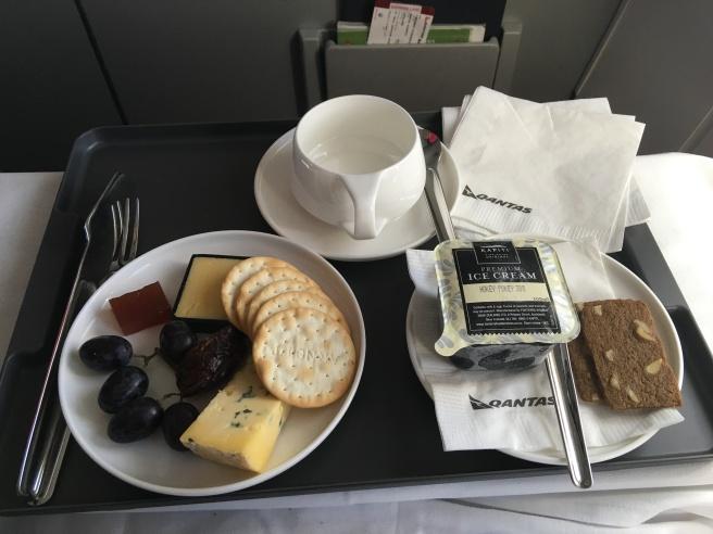 Qantas Business Class Dessert